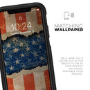 Scratched Surface Peeled American Flag - Skin Kit for the iPhone OtterBox Cases
