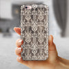 Scratched and Grungy Royal Pattern iPhone 6/6s or 6/6s Plus 2-Piece Hybrid INK-Fuzed Case