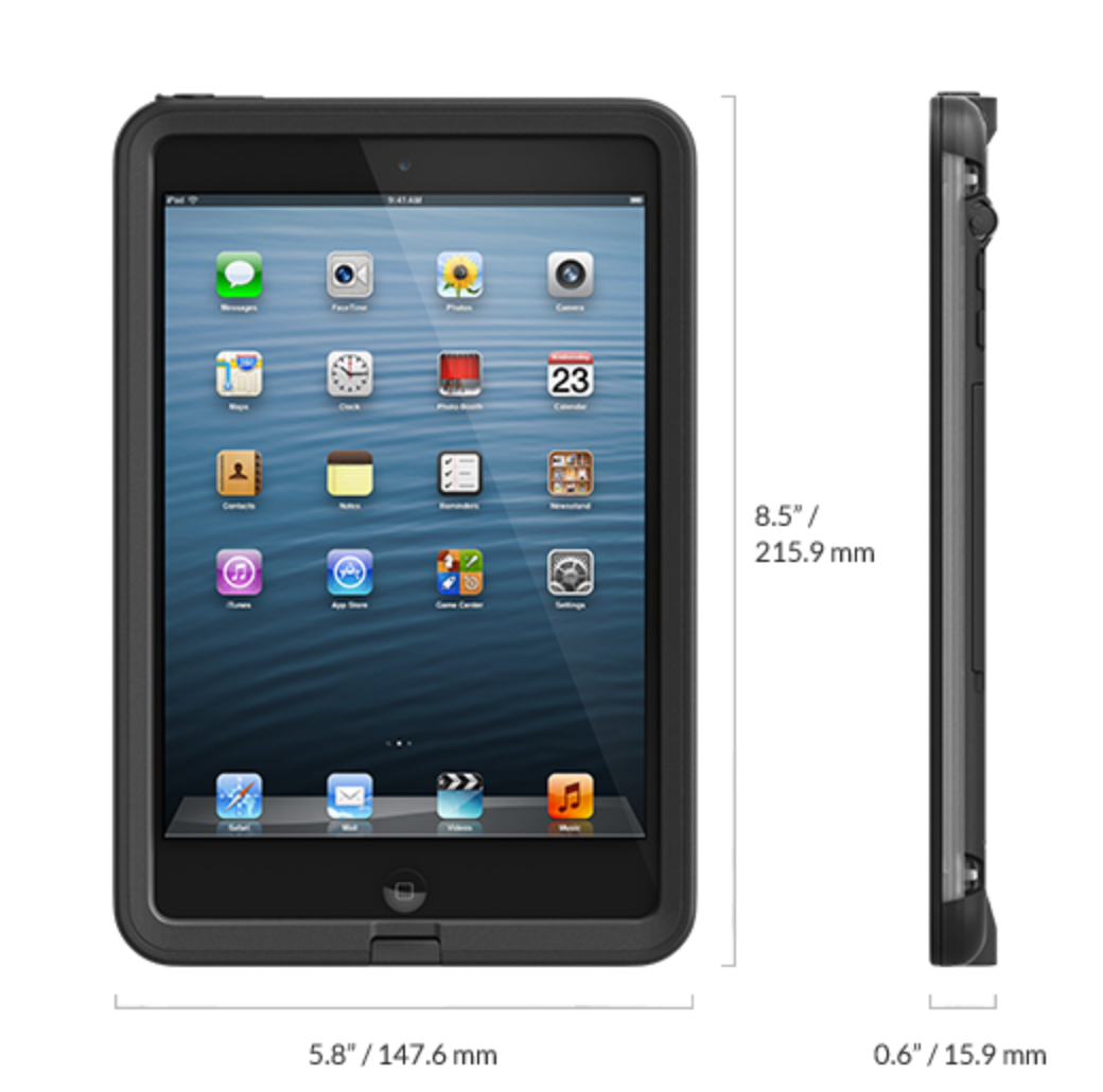 purchase cheap d83b1 c40e6 The Black Fre LifeProof Case for the Apple iPad Mini