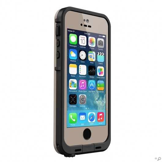 The Dark Flat Earth & Black LifeProof FRE Case for the iPhone 5s