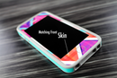 The Black and White Opposite Stripes Skin Set for the iPhone 5-5s Skech Glow Case