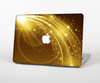 The Abstract Gold Fantasy Swoop Skin Set for the Apple MacBook Pro 15""