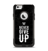 "The ""Never Give Up"" Mens Apple iPhone 6 Otterbox Commuter Case Skin Set"
