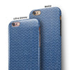 Shades of Blue Horizonantal Chevron Pattern iPhone 6/6s or 6/6s Plus 2-Piece Hybrid INK-Fuzed Case