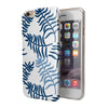 Shades of Blue Whispy Feathers iPhone 6/6s or 6/6s Plus 2-Piece Hybrid INK-Fuzed Case