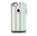 Shades of Green Vertical Stripes Skin for the iPhone 5c OtterBox Commuter Case