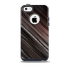 Shiny Brown Highlighted Line-Surface Skin for the iPhone 5c OtterBox Commuter Case