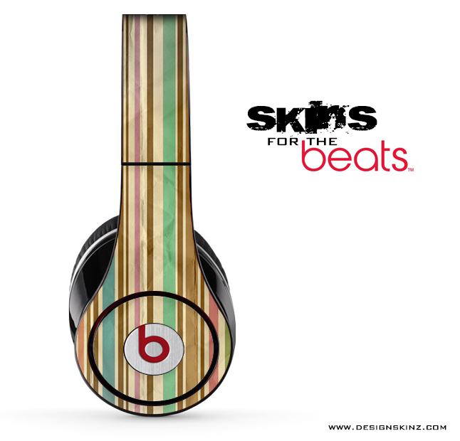 Vertical Vintage Striped Skin for the Beats by Dre