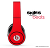Solid Red Skin for the Beats by Dre