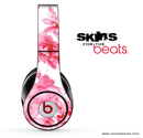 Watercolor Pink Floral Skin for the Beats by Dre