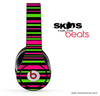 Neon Pink & Green Striped Skin for the Beats by Dre