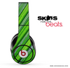 Slanted Green Stripes Skin for the Beats by Dre
