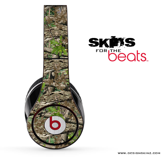 Vibrant Real Woods Camouflage Skin for the Beats by Dre