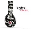 Real Zebra Skin for the Beats by Dre