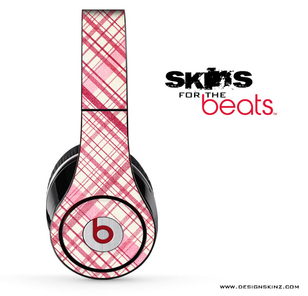 Pink Plaid Skin for the Beats by Dre