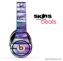 Blue & Pink Washed Wood Skin for the Beats by Dre