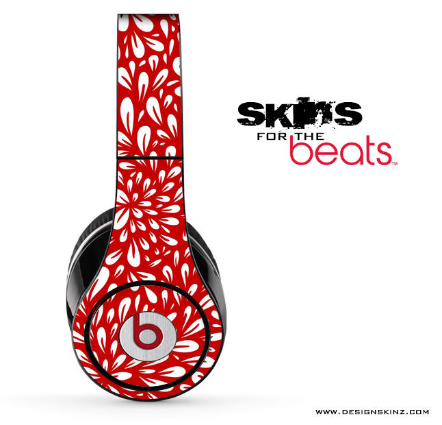 Red Floral Sprout Skin for the Beats by Dre