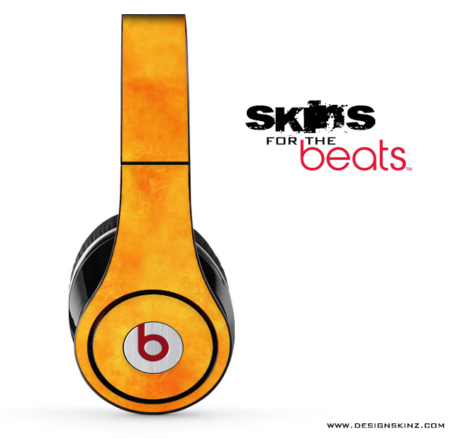 Grungy Orange Skin for the Beats by Dre