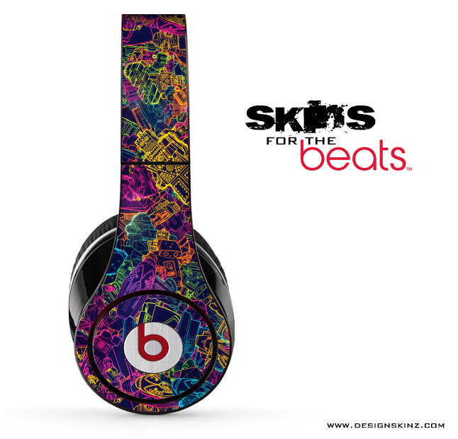 Neon Robots Skin for the Beats by Dre