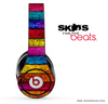 Neon Wood Planks Skin for the Beats by Dre