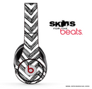 Black Sketched Chevron Pattern Skin for the Beats by Dre