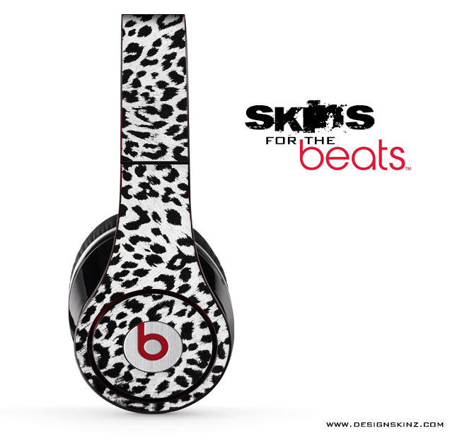 Vector Snow Leopard Animal Print Print Skin for the Beats by Dre