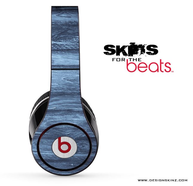 Blue Washed Wood Skin for the Beats by Dre