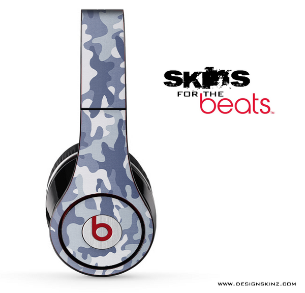 Blue & White Abstract Camo Skin for the Beats by Dre