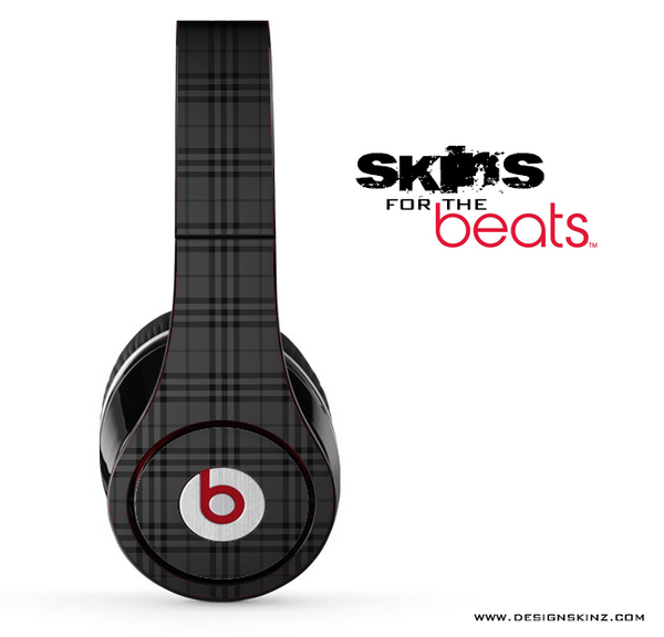 Black Plaid Skin for the Beats by Dre