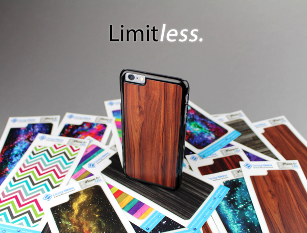 The Dark Vector Horizontal Wood Planks Skin-Sert Case for the Apple iPhone 6 Plus