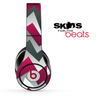 Abstract Pink Chevron Pattern Skin for the Beats by Dre Solo, Studio, Wireless, Pro or Mixr