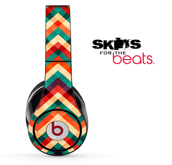 Abstract Colorful Chevron Pattern Skin for the Beats by Dre Solo, Studio, Wireless, Pro or Mixr