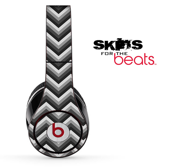 Black and Gray Chevron Pattern Skin for the Beats by Dre Solo, Studio, Wireless, Pro or Mixr