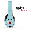 Blue Subtle Floral Fossil Skin for the Beats by Dre Solo, Studio, Wireless, Pro or Mixr