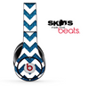 Blue Sparkle and White Chevron Pattern Skin for the Beats by Dre Solo, Studio, Wireless, Pro or Mixr
