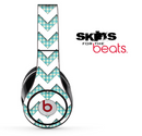Vintage Green Plaid and White Chevron Pattern Skin for the Beats by Dre Solo, Studio, Wireless, Pro or Mixr