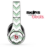 Vintage Green and White Chevron Pattern Skin for the Beats by Dre Solo, Studio, Wireless, Pro or Mixr