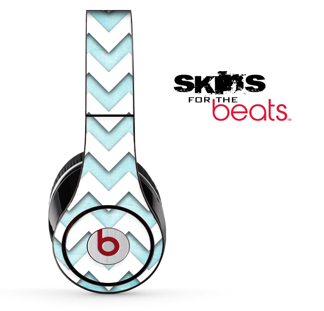 Vintage Blue and White Chevron Pattern Skin for the Beats by Dre Solo, Studio, Wireless, Pro or Mixr
