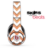 Vintage Orange and White Chevron Pattern Skin for the Beats by Dre Solo, Studio, Wireless, Pro or Mixr