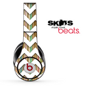 Vintage Striped and White Chevron Pattern Skin for the Beats by Dre Solo, Studio, Wireless, Pro or Mixr
