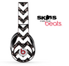 Black Floral Lace and White Chevron Pattern Skin for the Beats by Dre Solo, Studio, Wireless, Pro or Mixr