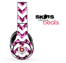 Pink Cheetah and White Chevron Pattern Skin for the Beats by Dre Solo, Studio, Wireless, Pro or Mixr