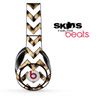Real Cheetah and White Chevron Pattern Skin for the Beats by Dre Solo, Studio, Wireless, Pro or Mixr