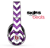 Purple Paisley and White Chevron Pattern Skin for the Beats by Dre Solo, Studio, Wireless, Pro or Mixr