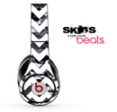 Traditional Snow Camo and White Chevron Pattern Skin for the Beats by Dre Solo, Studio, Wireless, Pro or Mixr