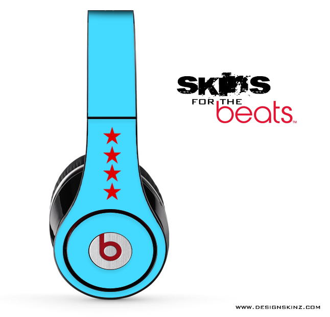 Blue Chicago Wolfie Skin for the Beats by Dre