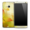 Vibrant Yellow Butterflies Skin for the HTC One Phone