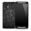 Antique Black & Grey Floral Skin for the HTC One Phone