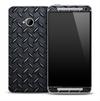 Dark Diamond Plate Skin for the HTC One Phone