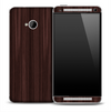 Elegant Dark Stained Wood Skin for the HTC One Phone